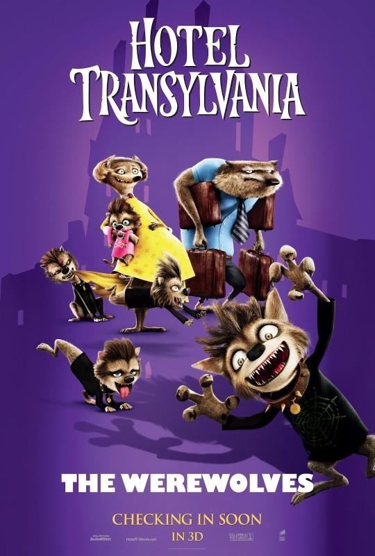 Hotel Transylvania: il divertente character poster dei lupi mannari