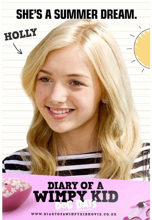 Diary of a Wimpy Kid: Dog Days: Character Poster per Holly (Peyton List)
