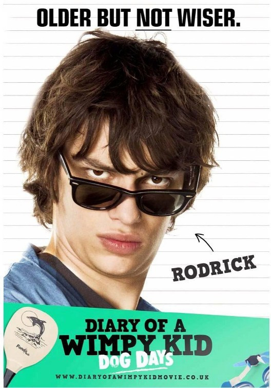 Diary of a Wimpy Kid: Dog Days: Character Poster per Rodrick (Devon Bostick)