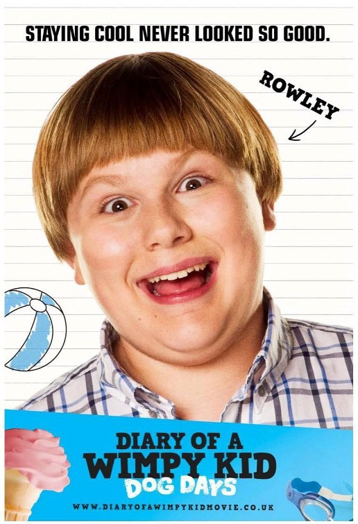 Diary of a Wimpy Kid: Dog Days: Character Poster per Rowley (Robert Capron)