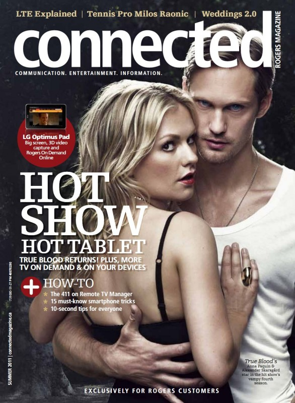 Anna Paquin ed Alexander Skarsgard sulla cover di Connected per 'True Blood'