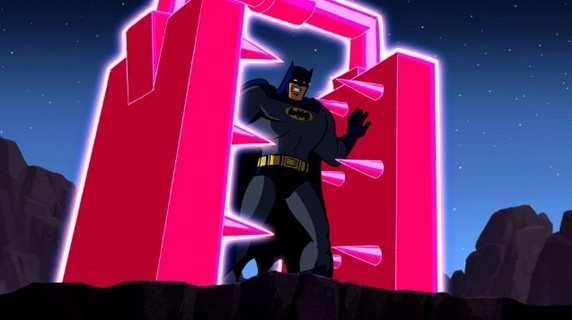 Batman: The Brave And The Bold: Batman in una scena della serie