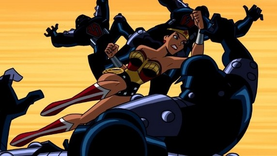 Batman: The Brave And The Bold: Wonder Woman in una scena della serie
