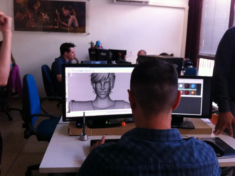 Gladiatori di Roma: un momento della nostra visita agli studi Rainbow CGI