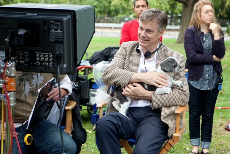 Il regista Whit Stillman sul set del suo film Damsel in Distress - Ragazze allo sbando