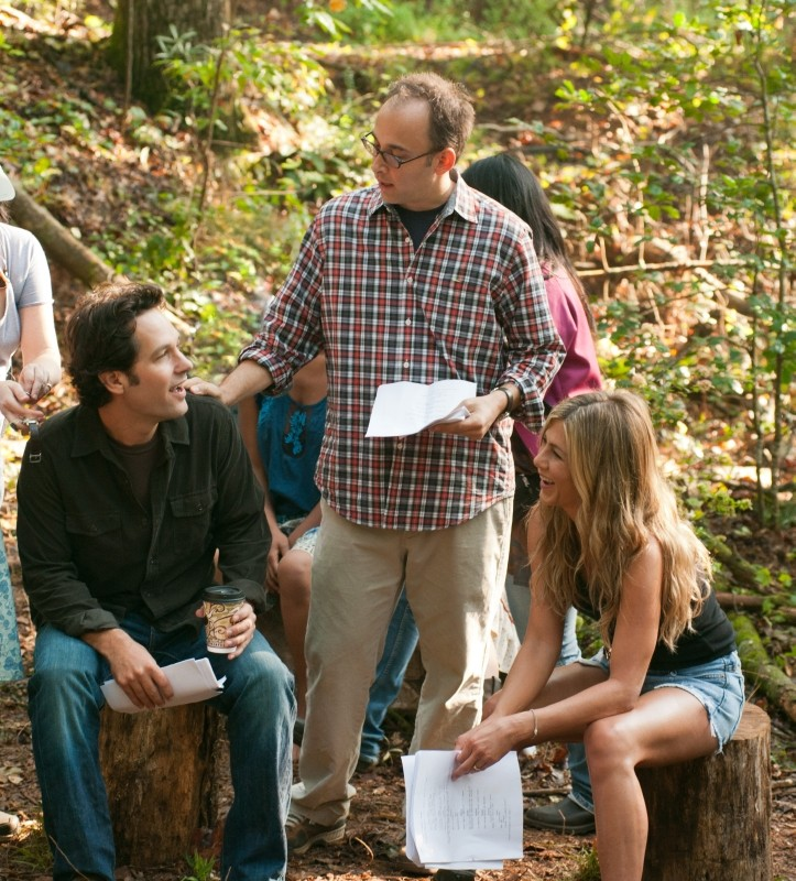 Nudi e Felici: Paul Rudd, Jennifer Aniston e il regista David Wain sul set