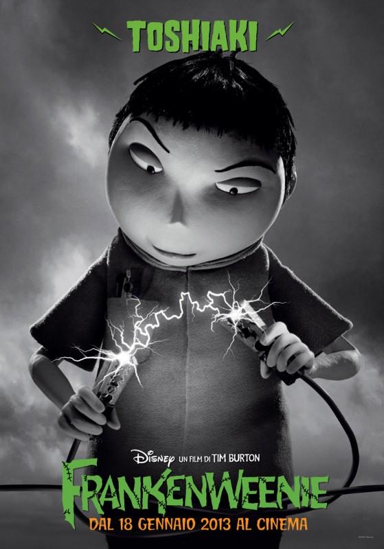 Frankenweenie: il character banner di Toshiaki, ultracompetitivo compagno di scuola di Victor