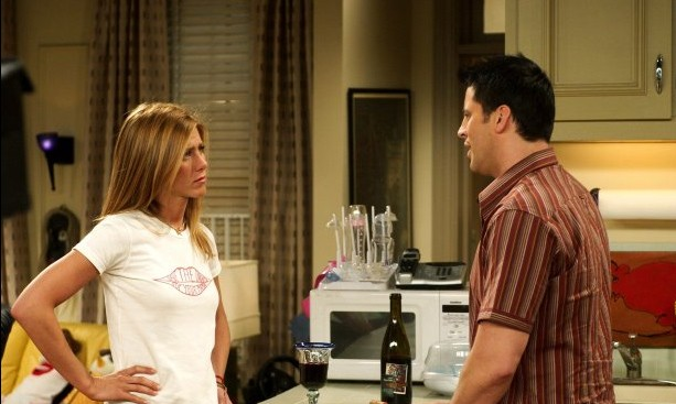 Matt LeBlanc con Jennifer Aniston in Friends