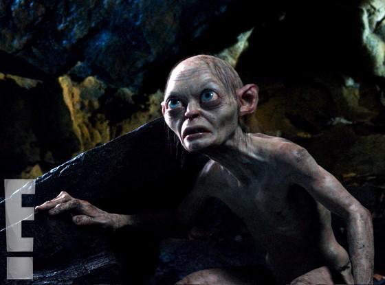 Andy Serkis trasfigurato nei panni di Gollum sul set di Lo Hobbit - Un viaggio inaspettato