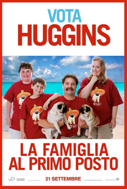 Candidato a sorpresa: il character poster italiano di Huggins, interpretato da Zach Galifianakis
