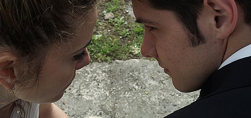 Un giorno speciale: Giulia Valentini e Filippo Scicchitano in una suggestiva immagine del film