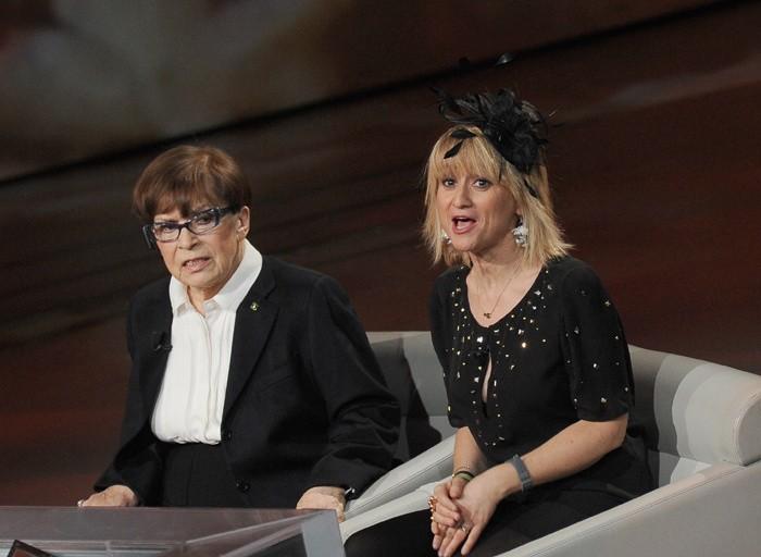 Franca Valeri con Luciana Littizzetto a Che tempo che fa