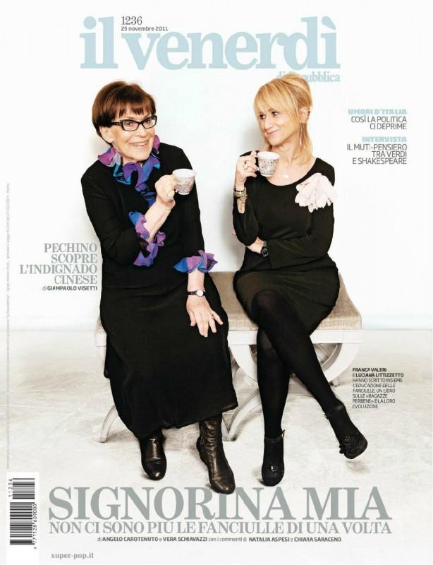 Franca Valeri con Luciana Littizzetto su Il Venerdì di Repubblica