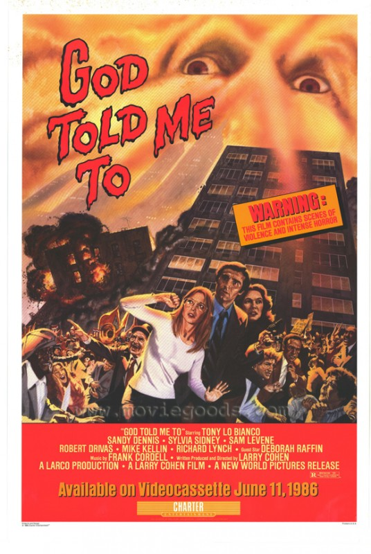 God Told Me To: la locandina del film