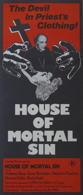 La casa del peccato mortale: la locandina del film