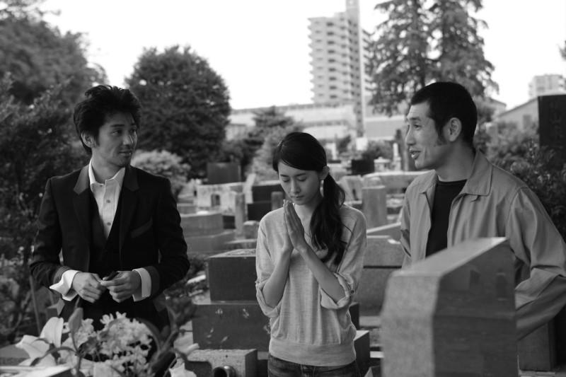 Playback: Jun Murakami, Aoba Kawai e Kiyohiko Shibukawa in una scena