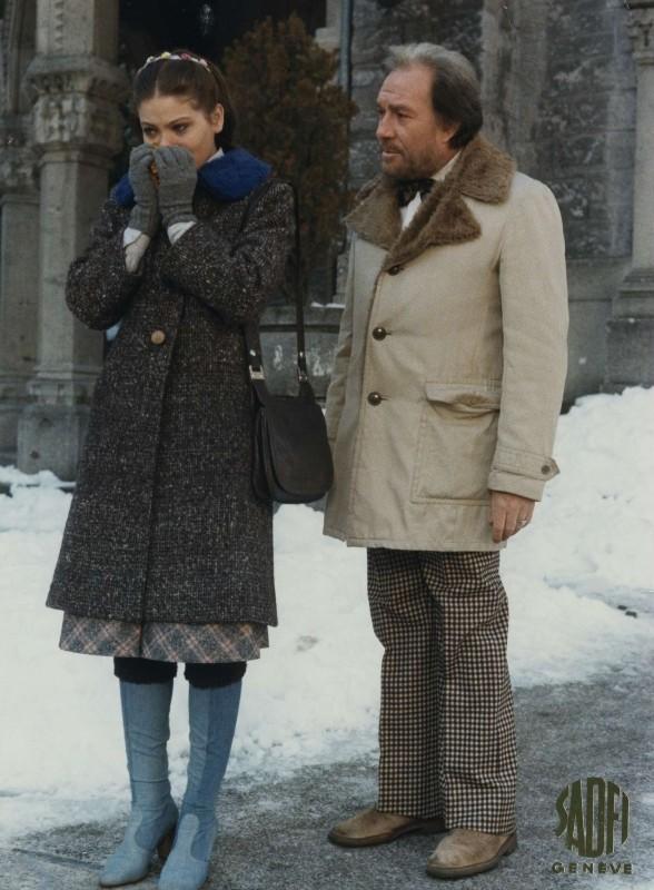 Primo amore: Ugo Tognazzi e Ornella Muti in una scena del film