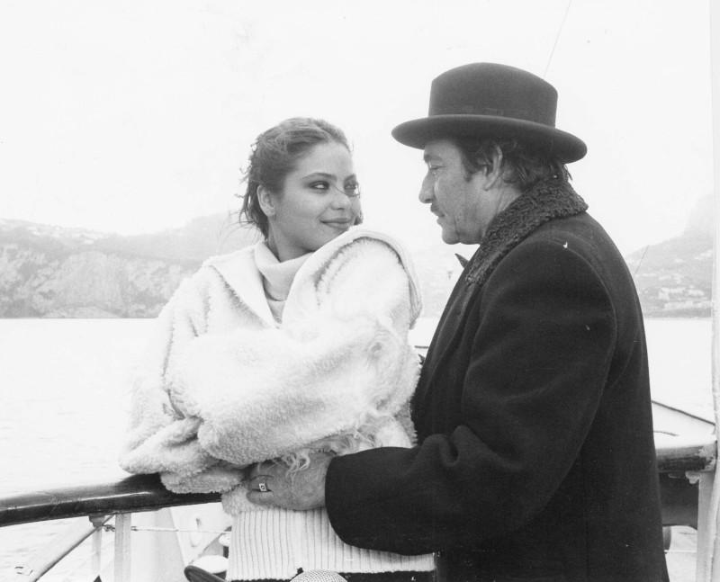 Primo amore: Ugo Tognazzi insieme ad Ornella Muti in una scena del film
