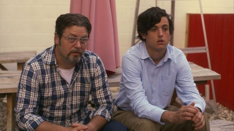 Somebody Up There Likes Me: Nick Offerman e Keith Poulson in una scena del film