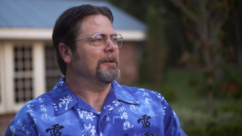 Somebody Up There Likes Me: Nick Offerman in una scena del film