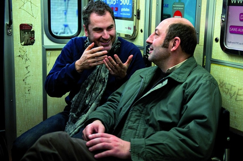 Superstar: il regista Xavier Giannoli sul set del film con il protagonista del film Kad Merad