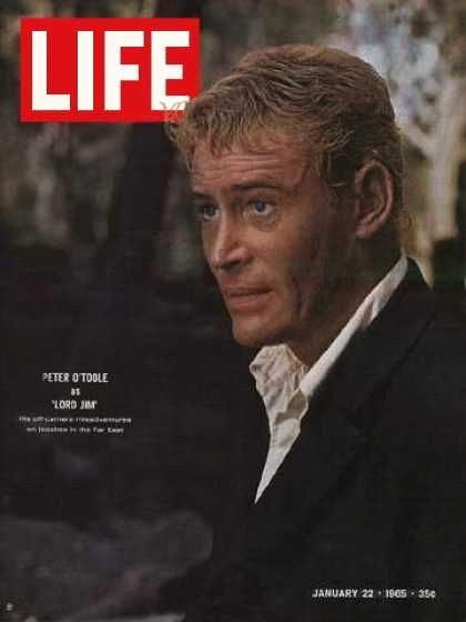 Peter O'Toole in cover su LIFE che parla del film Lord Jim (1965)