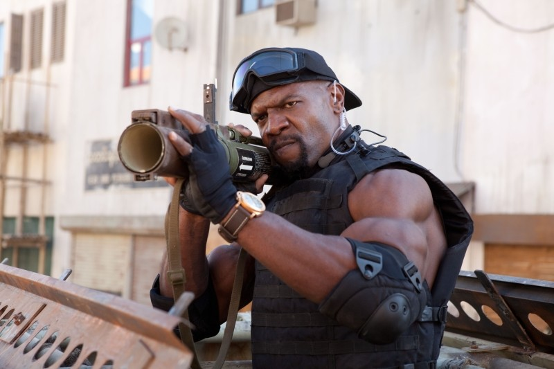 I mercenari 2: Terry Crews nei panni di Hale Caesar in una scena