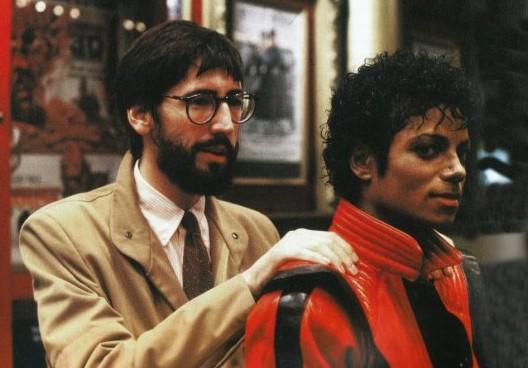John Landis con Michael Jackson sul set del video di Thriller