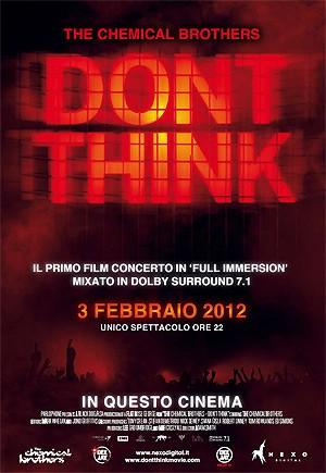 Don\'t Think: la locandina del film