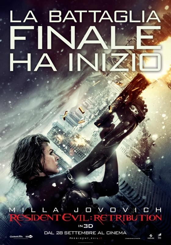 Resident Evil: Retribution, il poster italiano del film