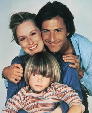 Dustin Hoffman con Meryl Streep in una immagine promo di Kramer contro Kramer con Justin Henry