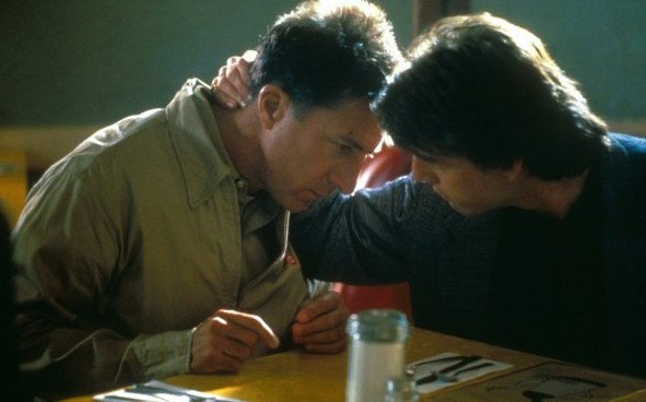 Dustin Hoffmann e Tom Cruise in Rain Man