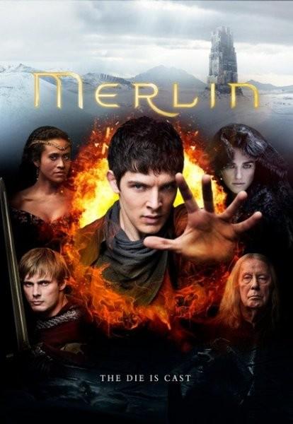 Il poster promozionale della quinta stagione di Merlin