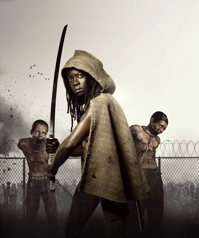 The Walking Dead: Danai Gurira è Michonne in una foto promozionale della stagione 3