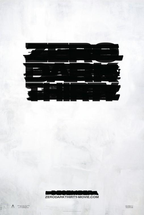 Zero Dark Thirty: la locandina del film