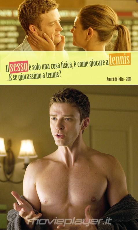 Justin Timberlake in Amici di letto - la nostra eCard: condividi sui social le immagini e frasi dei tuoi film e attori preferiti!