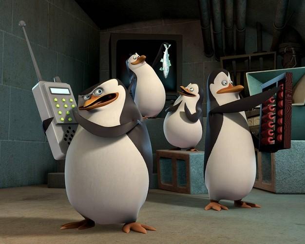 Skipper, Kowalski, Rico e Soldato in un momento della serie TV I Pinguini di Madagascar