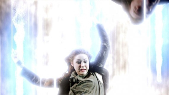 Doctor Who: Karen Gillan in una scena dell'episodio Asylum Of The Daleks