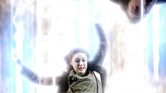 Doctor Who: Karen Gillan in una scena dell'episodio Asylum Of The Daleks