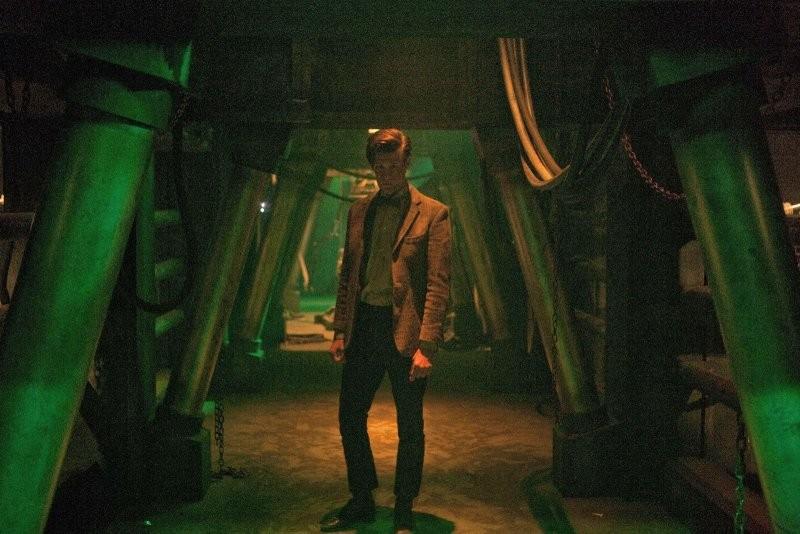 Doctor Who: Matt Smith in una scena dell'episodio Asylum Of The Daleks