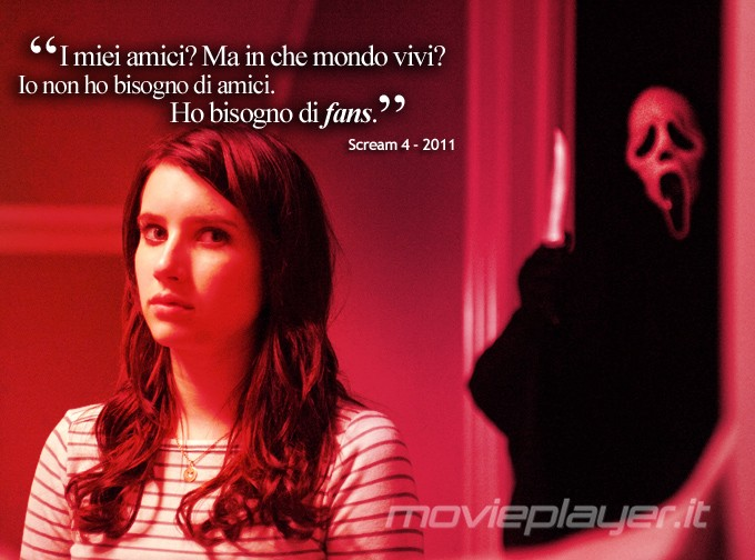 Emma Roberts in Scream 4:  la nostra eCard: condividi sui social le immagini e frasi dei tuoi film e attori preferiti!