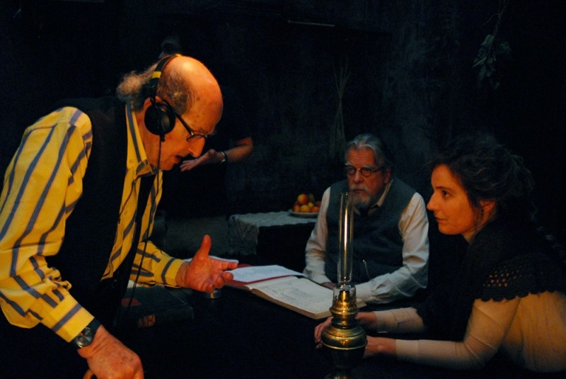 Gebo e l'ombra: il regista Manoel de Oliveira sul set con Michael Lonsdale e Leonor Silveira
