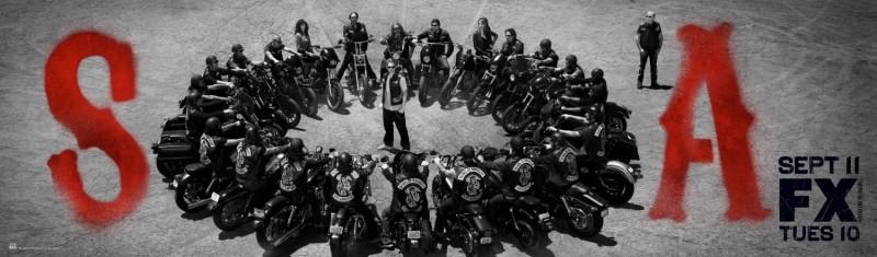 Sons of Anarchy: un poster con sviluppo orizzontale della stagione 5