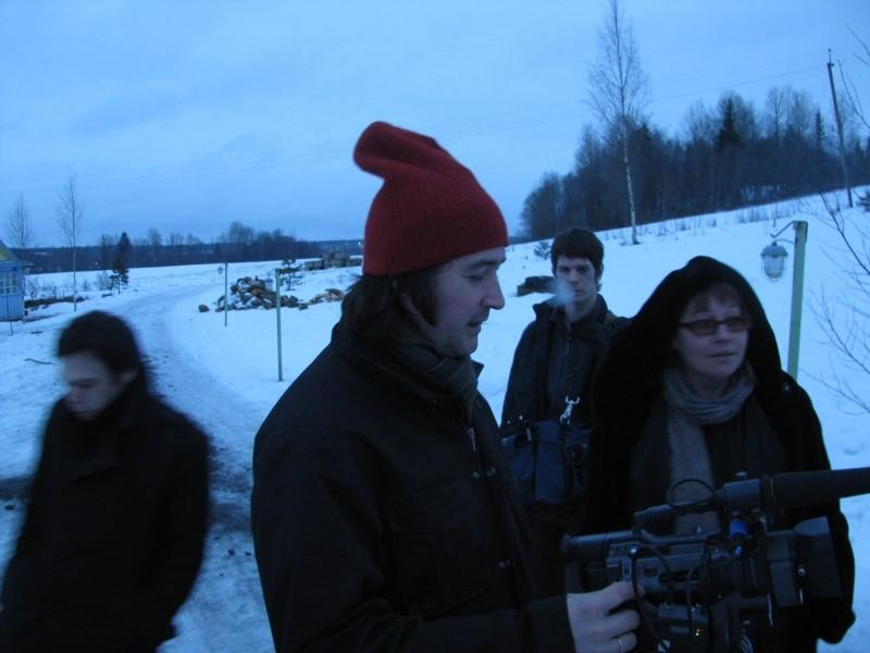 Anton's right here: la regista Lyubov Arkus sul set del suo documentario
