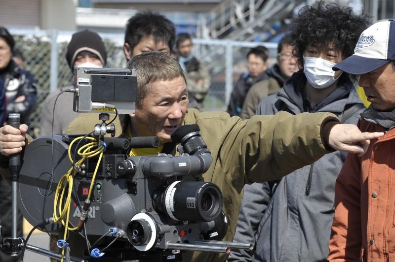 Outrage Beyond: Takeshi Kitano sul set