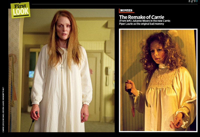 Carrie e il remake a confronto secondo Entertainment Weekly: Piper Laurie e Julianne Moore