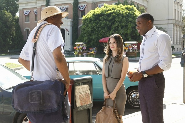 Hart of Dixie: Hugh Dane, Rachel Bilson e Cress Williams nell'episodio The Crush & The Crossbow