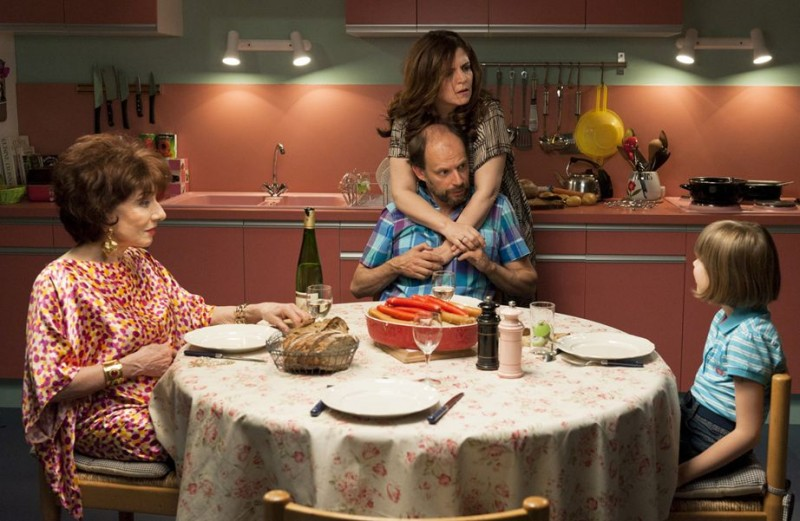 Du Vent dans mes mollets - Judith Magre, Denis Podalydès e Agnès Jaoui in una scena