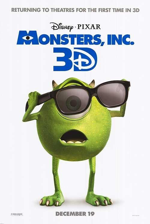 Monsters & Co. in 3D: la locandina del film