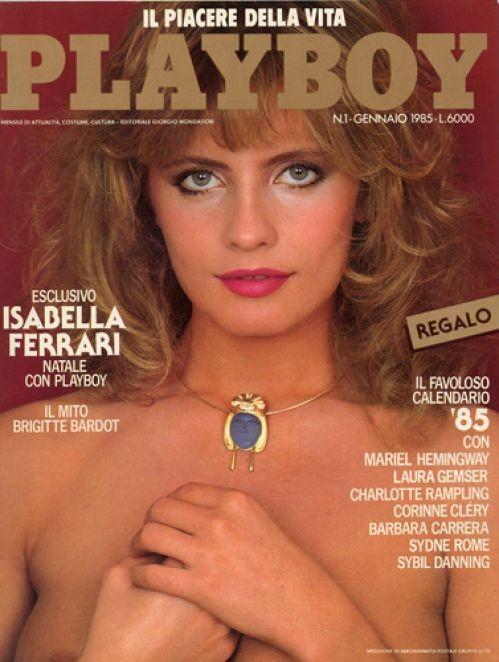 Isabella Ferrari sulla cover di Playboy (1985)
